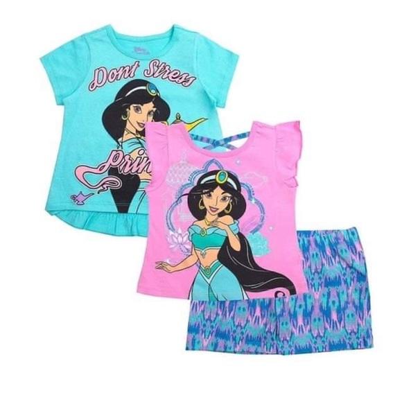 Disney Princess Jasmine Cute Girl shorts set